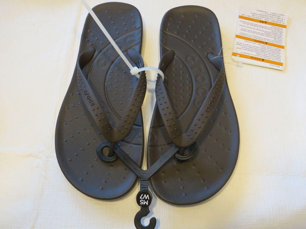 bef3c0bed56aea Crocs chawaii flip relaxed fit M10 W12 flip flops sandals thong navy blue   Crocs  flipflops