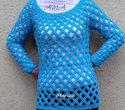 245b535d5d Kellemes viselet a Rácsos pulóver - Kötés - Horgolás - Kötés – Horgolás