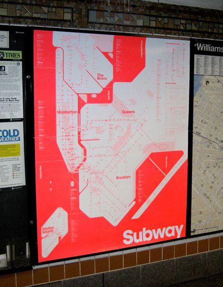New York Subway Map Red.New York Subway Map Identity Branding Packaging Nyc Subway