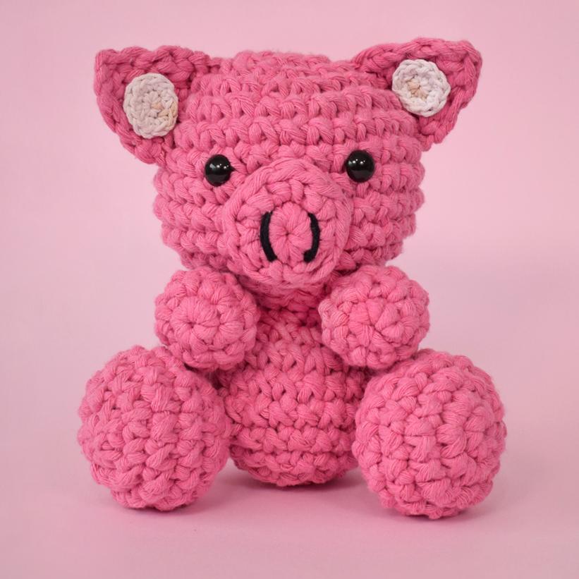 Porquinho amigurumi com receita | Croche para iniciantes ... | 821x821
