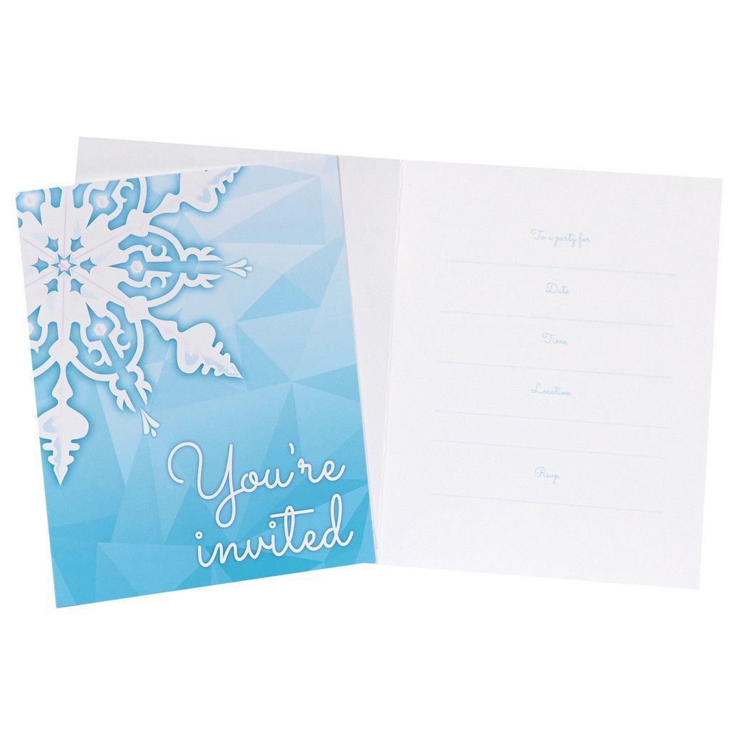 eb50d2989 Snowflake Winter Wonderland Invitations (8)
