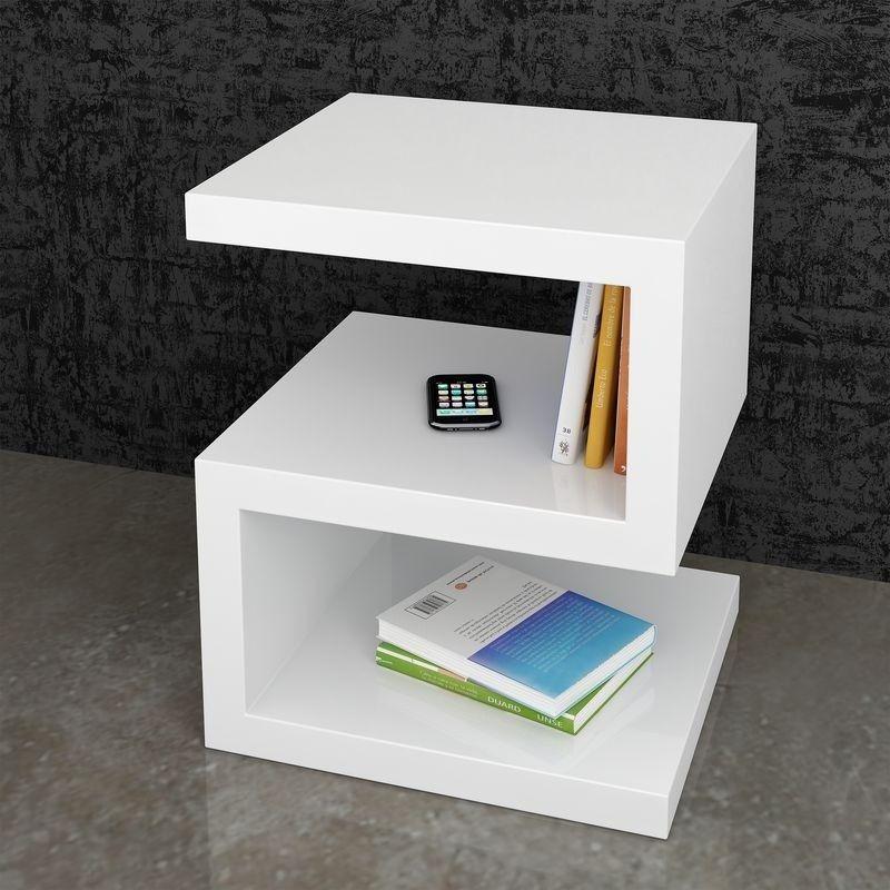 Mesa rincon auxiliar moderna lacado brillo 962 dos ideas trabajo pinterest mesas muebles - Mesas auxiliares modernas ...