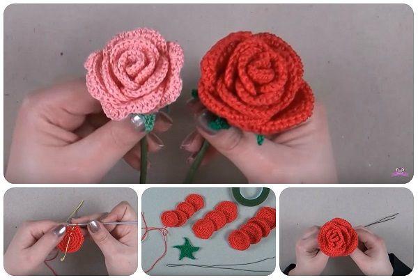 Amigurumi Uncinetto Tutorial Italiano : Tutorial rose a uncinetto in italiano un spring and flower