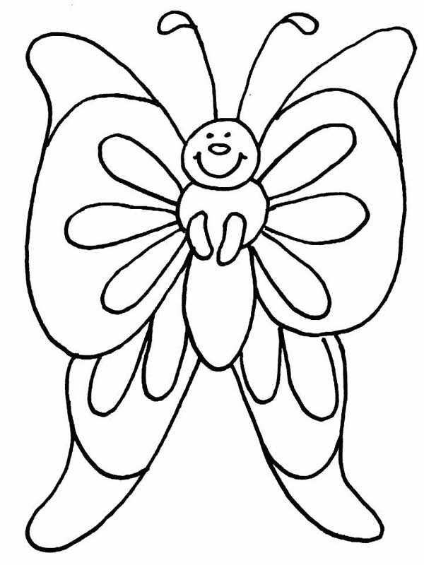 Pin By Colornimbus On Butterfly Coloring Pages Butterfly Coloring Page Spring Coloring Pages Flower Coloring Pages