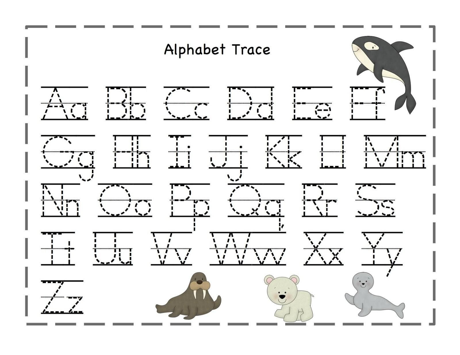 Free Printable Lowercase Alphabet Tracing Worksheets In
