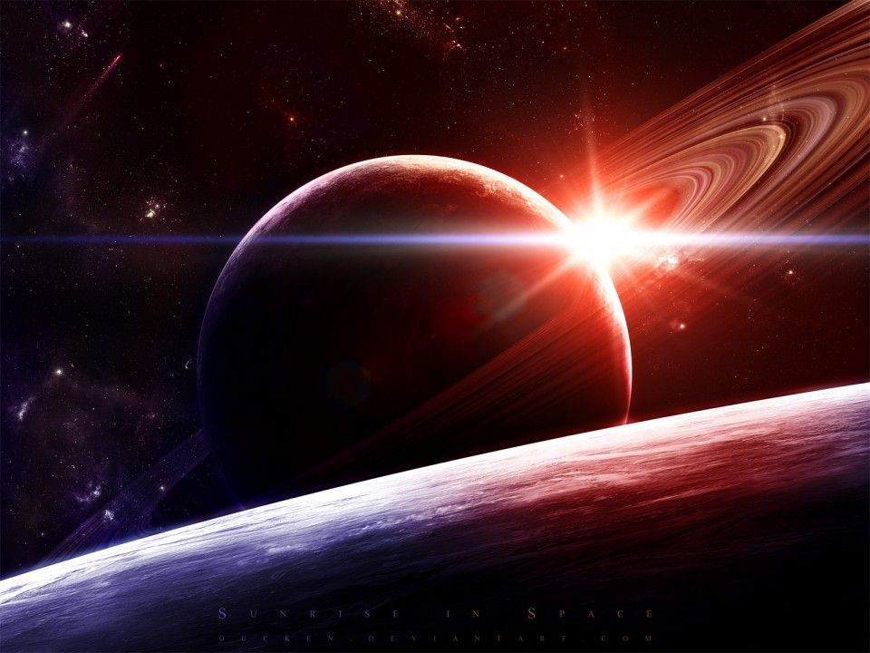 Space Scene 3D Wallpapers | Planets Saturn Outer space
