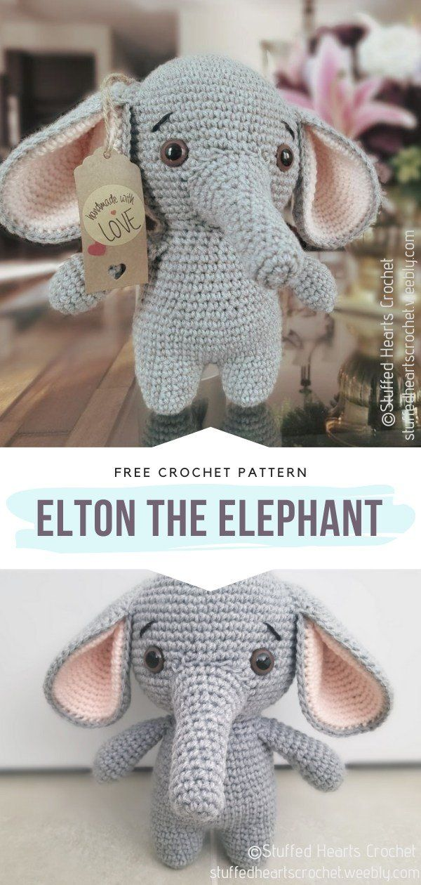 Charming Amigurumi Elephants Free Crochet Patterns