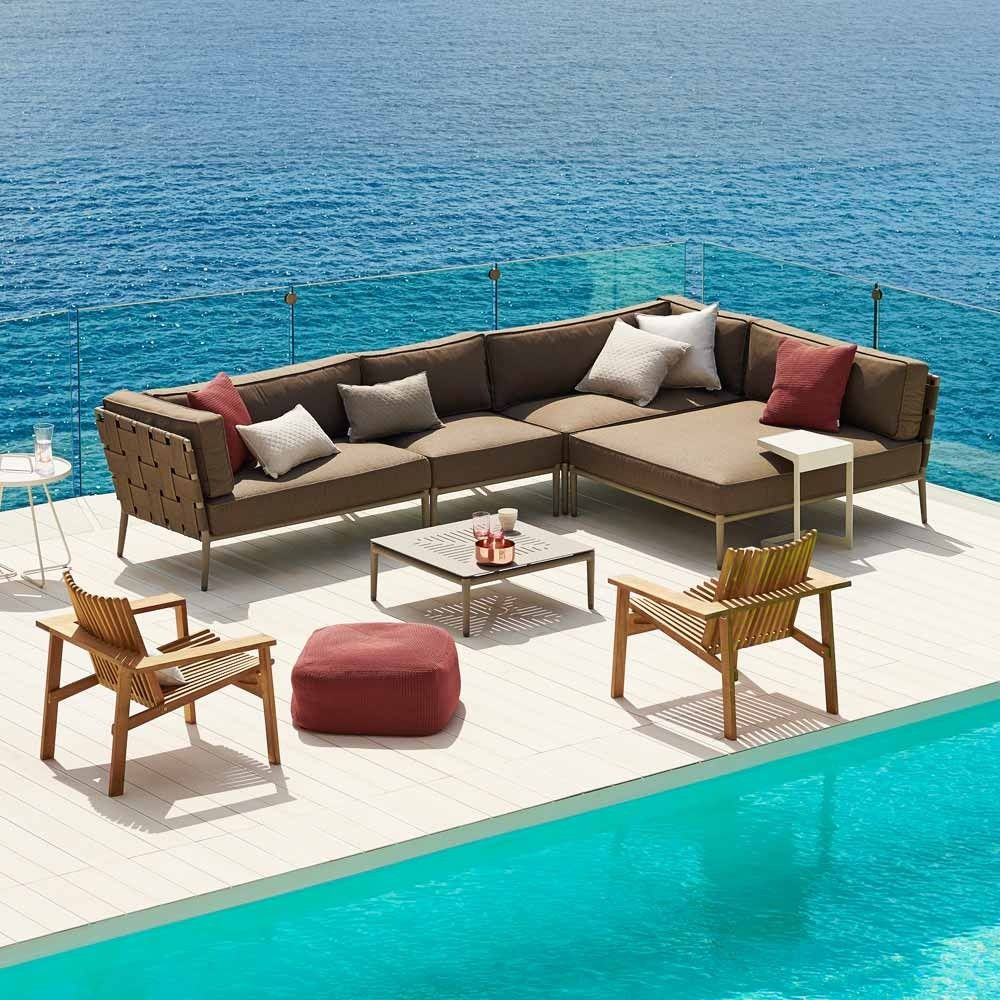 Cane Line Couchtisch Conic Grau Taupe Maritime Mobel