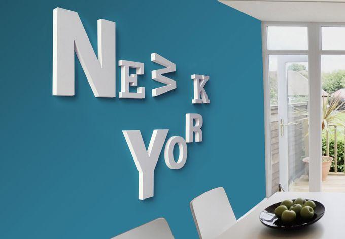 Dekobuchstaben 3D New York mixed | Dekobuchstaben | Dekobuchstaben ...