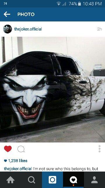 Sick Car Wrap Of The Joker Superhero Theme Bling Car Accessories Weird Cars
