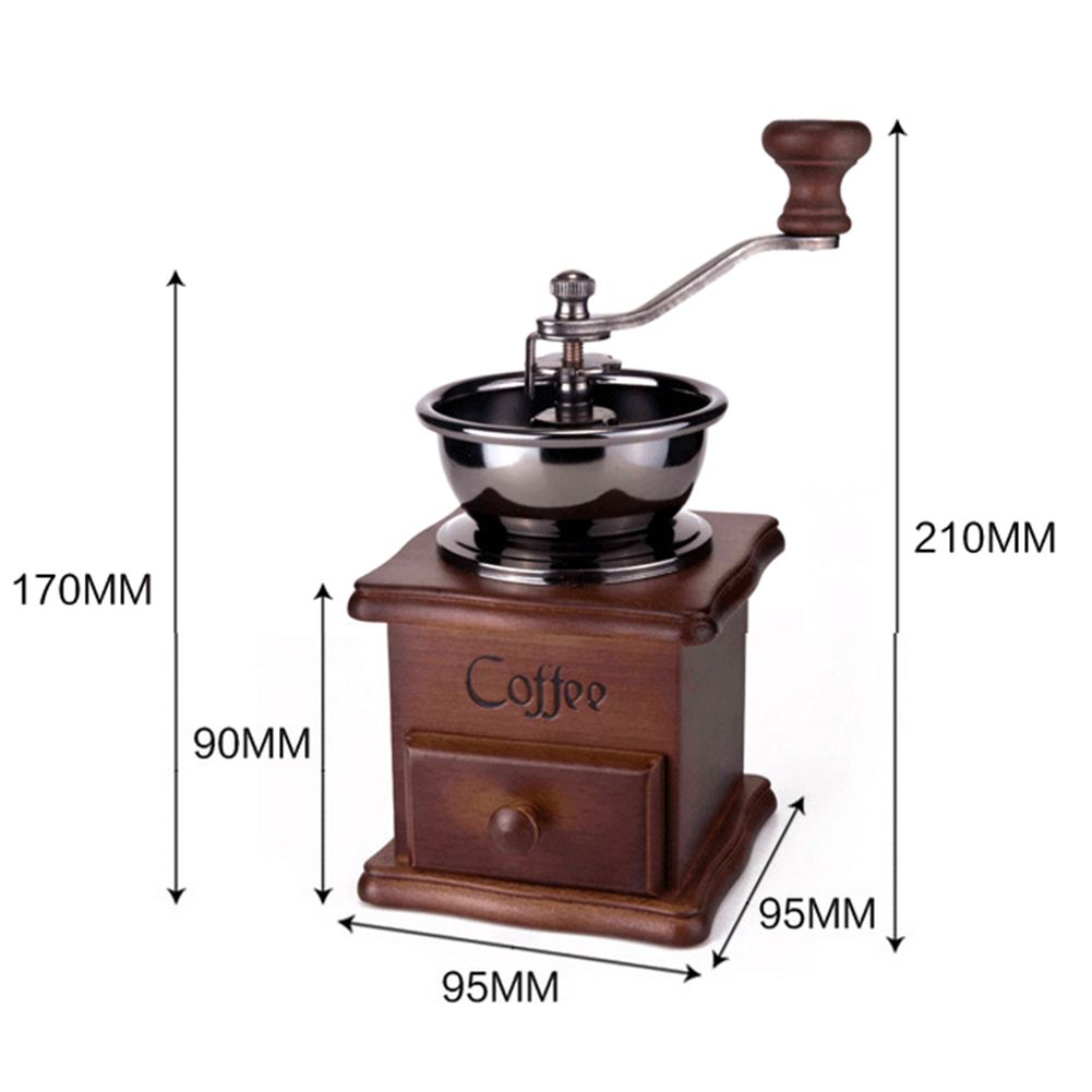 Leegoal Conical Burr Wooden Coffee Mill Manual Hand Grinder Lazada Singapore Manual Coffee Grinder Coffee Bean Grinder Vintage Coffee