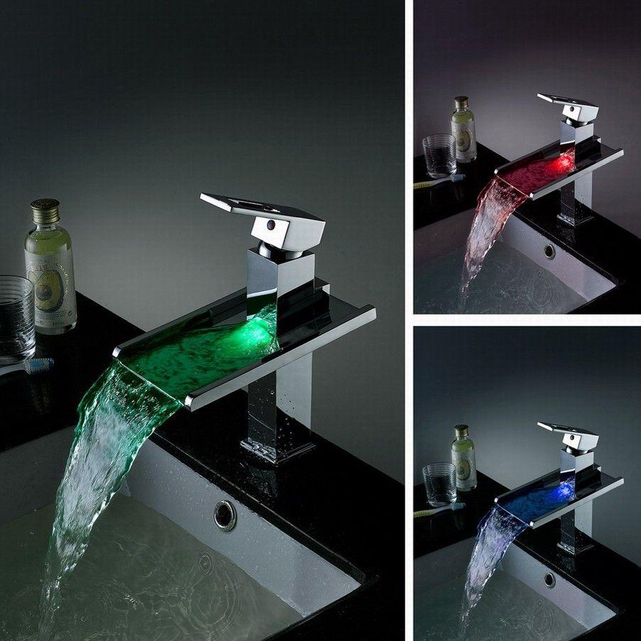 Koko LED Waterfall Bathroom Sink Faucet   Bathroom remodelling ...