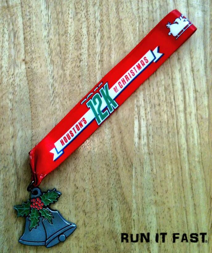 this is the medal the finishers of the houston 12k of christmas received on december 21 2013 in houston texas more photos of marathonultra medals and - 12k Of Christmas