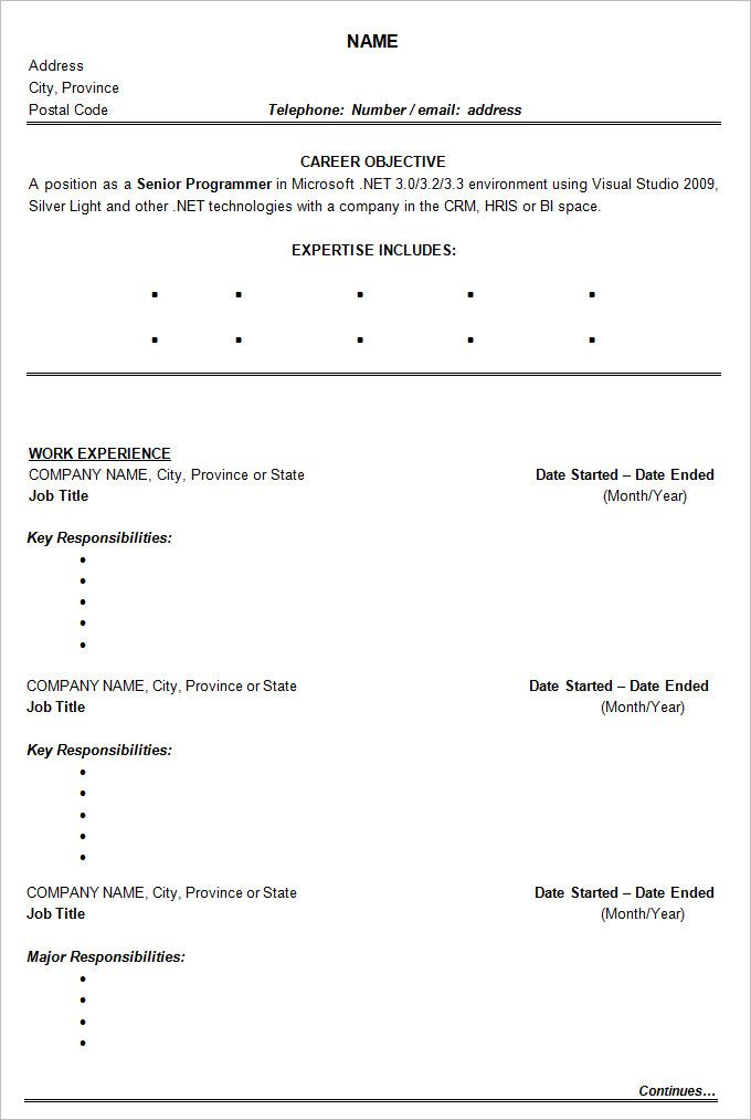 Sample Chronological Resume Sample Resume Reverse Chronological