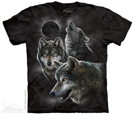 Snow Wolf T-Shirt Wolves,Winter Wolf Kid/'s Tee Gray Tie Dye