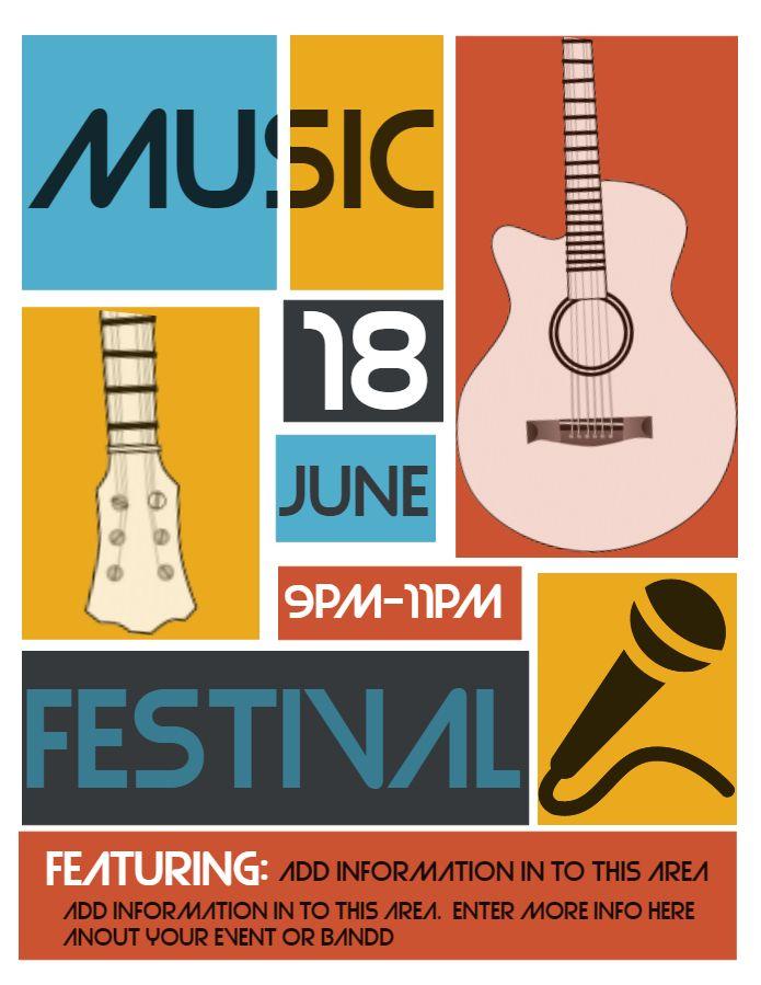 Classy Music Festival Karaoke Flyer Design Click To Customize Concert Poster Design Kids Graphic Design Poster Design Layout