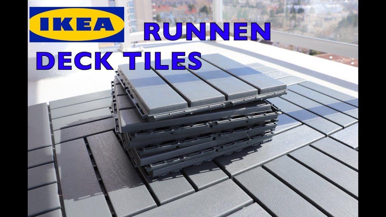 Ikea Runnen Deck Flooring Patio Tiles Youtube Patio Tiles