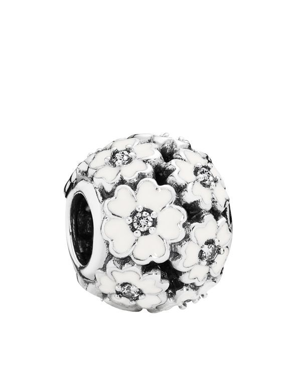 fa92d351a Pandora Charm - Sterling Silver & Enamel Primrose Meadow, Moments Collection