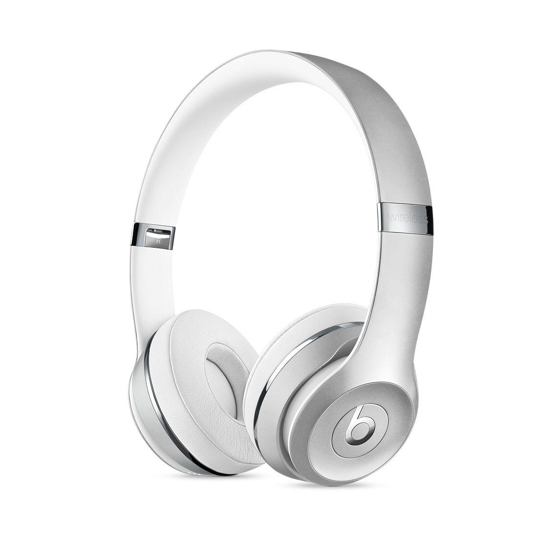 apple headphones wireless. Beats Solo3 Wireless On-Ear Headphones - Silver Apple