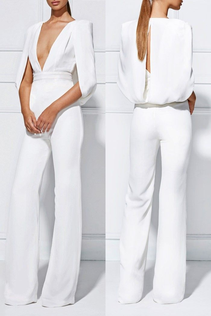 787997d57a9 Misha Collection Olympia Pantsuit - Fox Maiden White Pantsuit Wedding