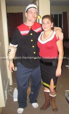 Cool popeye and olive oyl costume costumes halloween costumes and cool popeye and olive oyl costume solutioingenieria Images