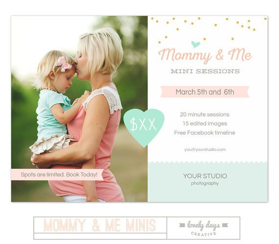 Mütter Tag Mini-Sitzung Mami und ich Marketing-Vorlage sofort ...