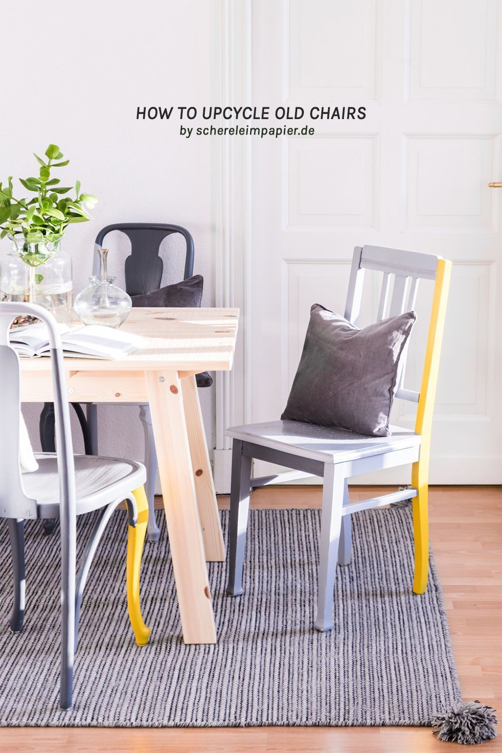 Upcycling Möbel Diy Mein Esszimmer Makeover Schereleimpapier Diy Upcycling Möbel Diy Zuhause Haus Deko