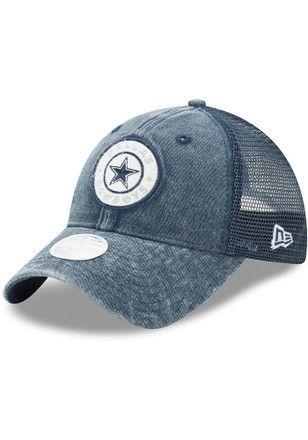4bd75688f94 Dallas Cowboys Womens Navy Blue Perfect Patch LS 9TWENTY Adjustable ...