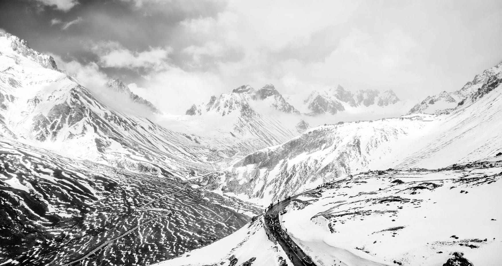 Giro d'Italia 2013 iconic image 5/8 - In a day that will remain forever in history, Giro d'Italia conquers a legendary climb of cycling: the Col du Galibier!  Via Giro D'Italia.  #socialpeloton #giro #bicycling.