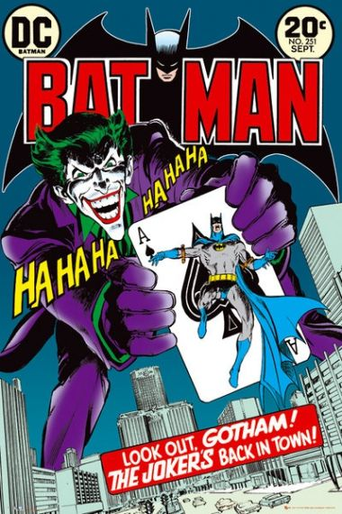 Batman Joker Is Back In Town Retro Plakat Plakaty