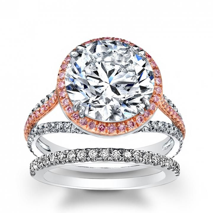 but square ..  Natural Halo Pave Contemporary Split Shank Diamond Engagement Ring