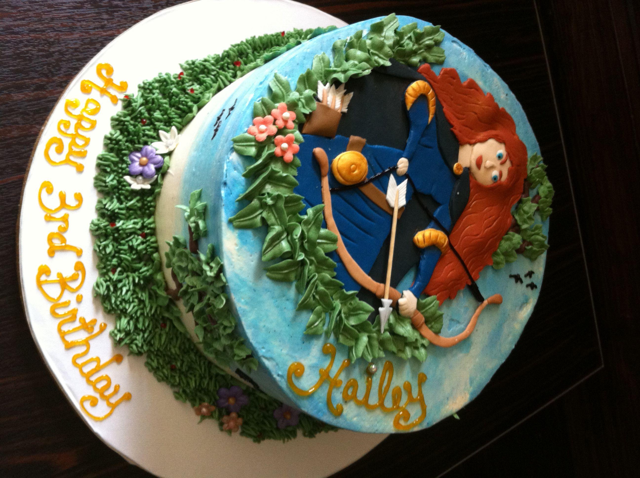 Dessert menu archery girl cake alternate viewpoint