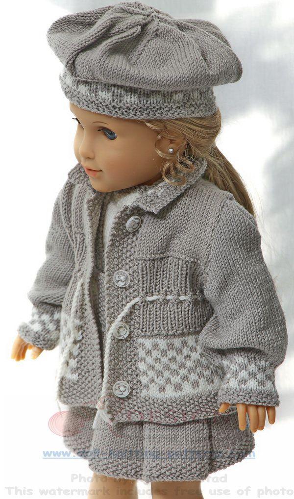Puppenkleider Selber Stricken одежда куклам Stricken Puppen Et