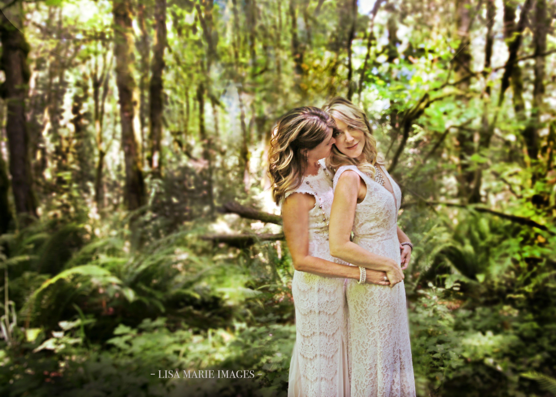 Forest Romance, Davids Bridal Lace Gowns, Portland Oregon