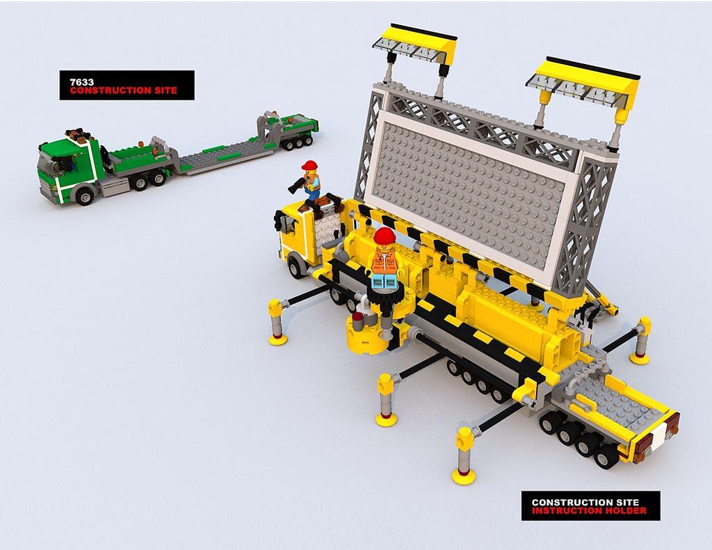 Lego Movie Construction Site Instruction Holder Lego 12