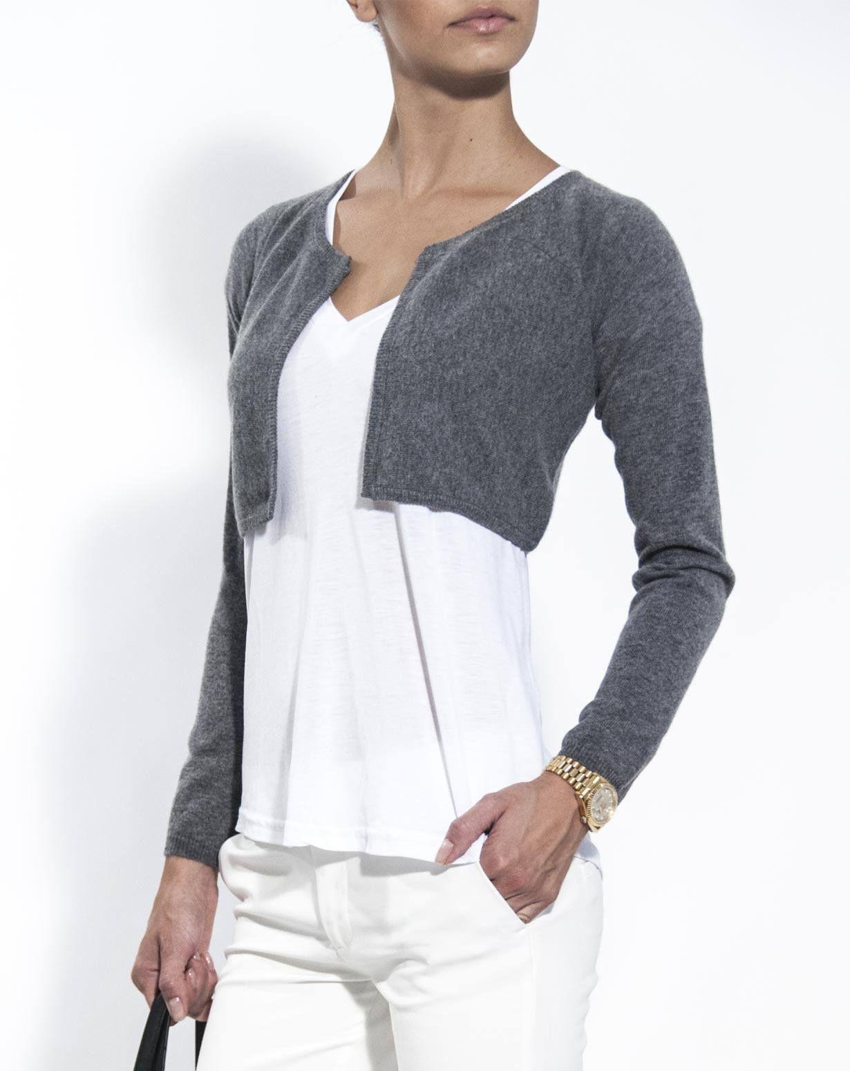 Women's Pure Cashmere Shrug Sweater #shrugsweater