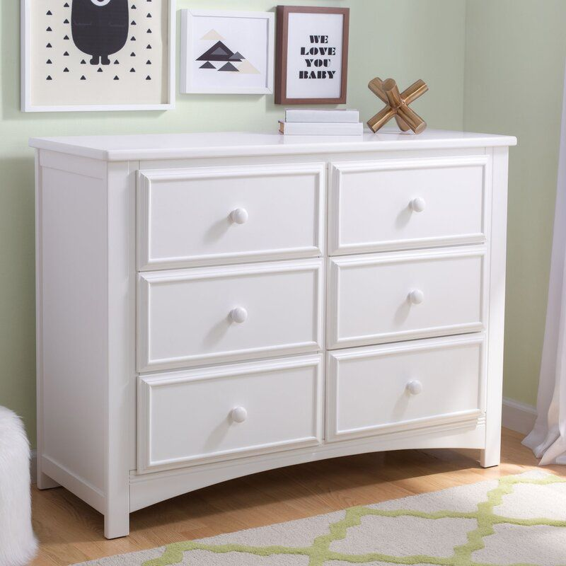 6 Drawer Double Dresser In 2020 Dresser Drawers Kids Dressers 6 Drawer Dresser
