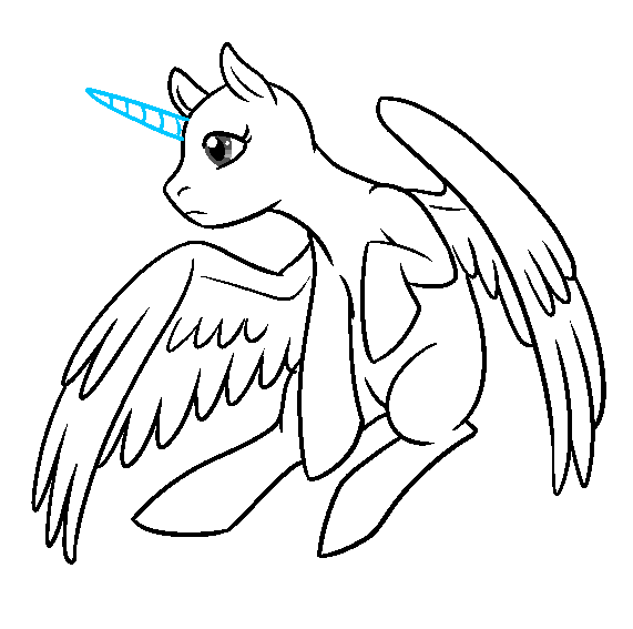 Alicorn Pegasus In Flight Base My Little Pony Drawing Pony Drawing Sketches