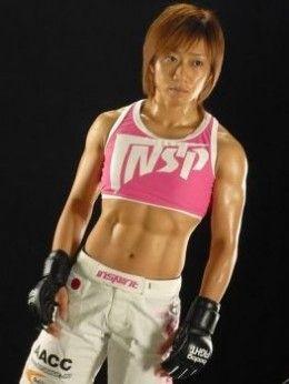 "Female MMA fighter Megumi ""Mega Megu"" Fujii, totally functional fitness"