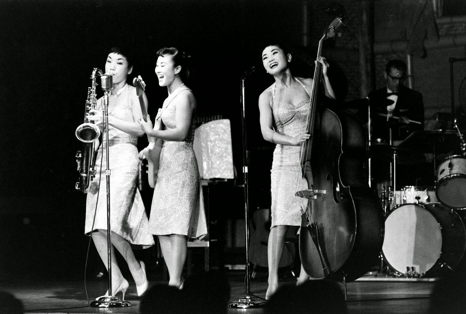 """The Kim Sisters was a South Korean female trio who made their career in the United States during the 1950s and 1960s. They were the two sisters Sue (Sook-ja)and Aija (Ai-ja) and a third member, cousin Mia (Minja) Kim. Sue and Aija were two of seven children of Kim Hae-song, a popular music conductor, and Lee Nan-young, one of Korea's most famous singers before the Korean War, perhaps best known for """"the Tears of Mokpo."""" Mia's father was Lee Bong-ryong, a musician as well."""