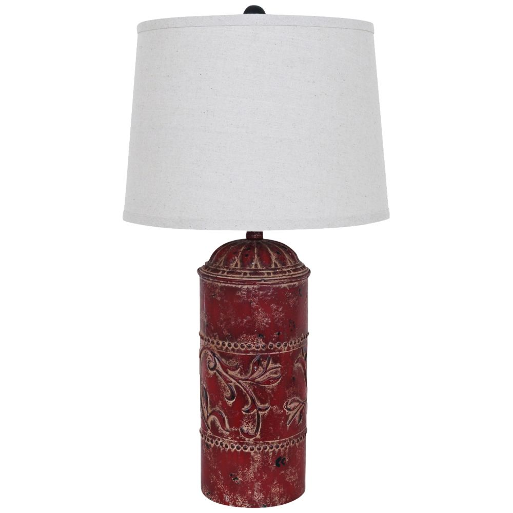 Crestview collection country store rustic red table lamp style crestview collection country store rustic red table lamp style 1g527 mozeypictures Image collections