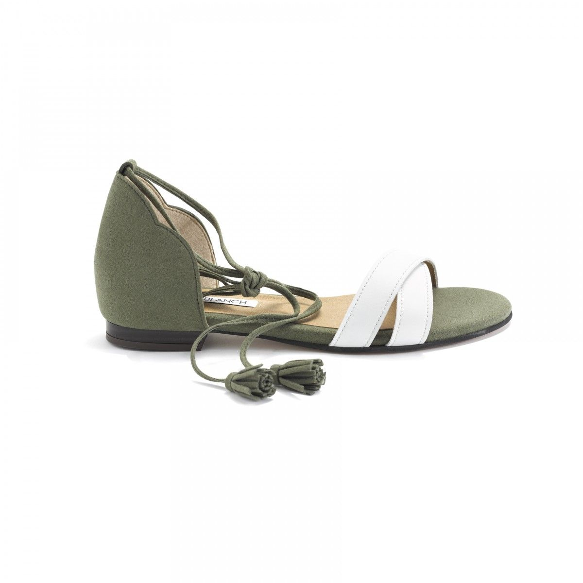 004aa45b1370 Cruelty free khaki sandals shoes designed and manufactured by ByBlanch