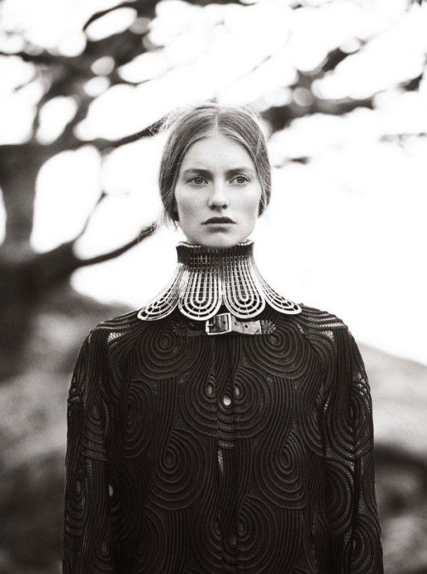 Christopher Kane - viscose and polyester dress, necklace