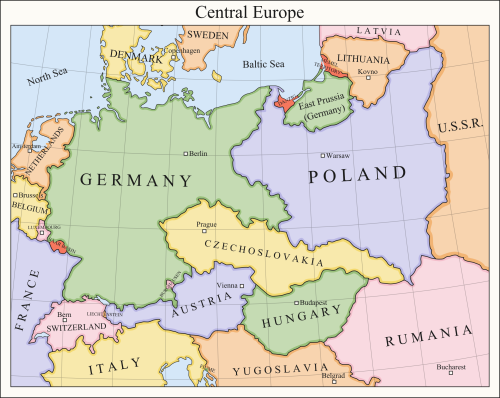 Central Europe 1921 | Maps | Pinterest | Historical maps, Central ...