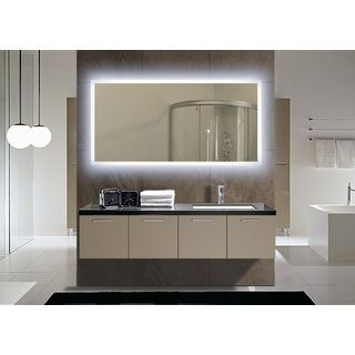 IB Mirror Rectangle Backlit Bathroom Mirror | Overstock.com Shopping   The  Best Deals On