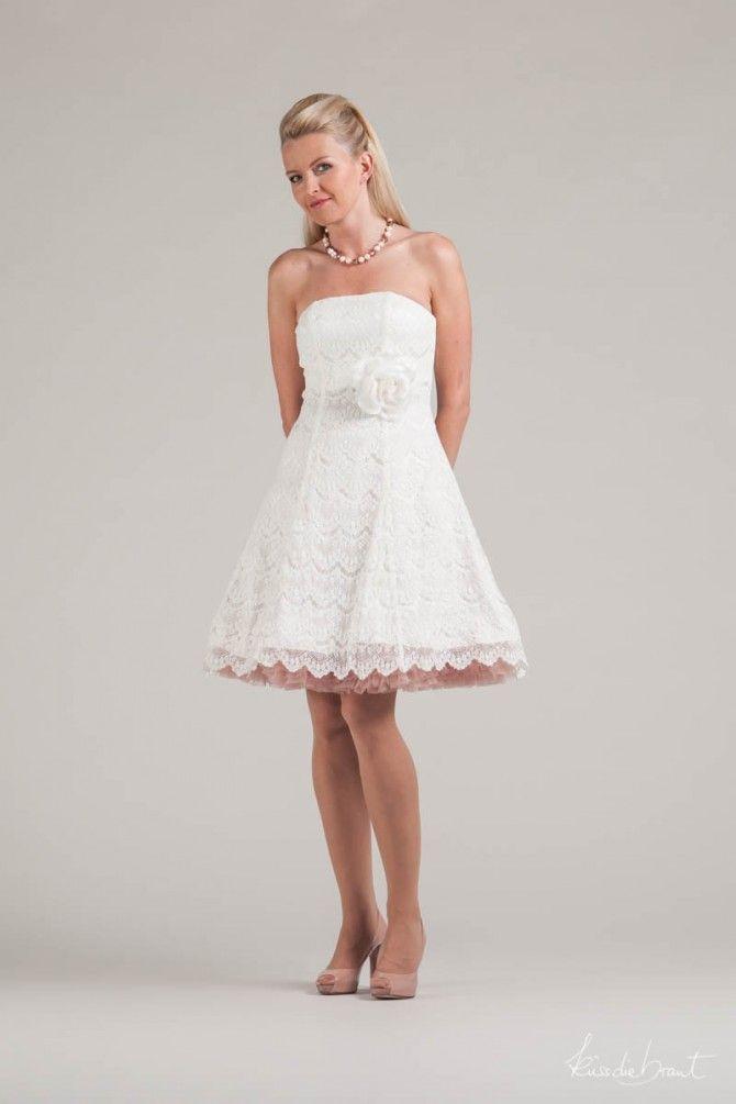 kurzes Brautkleid | Hochzeit | Pinterest | Brautkleid, Kurzes ...