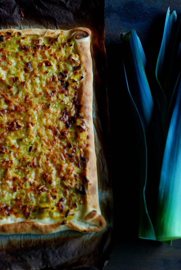 prei - gorgonzola pizza - Peggy's Pastime