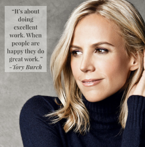 A culture of woman's empowerment means an interview with Tory Burch.