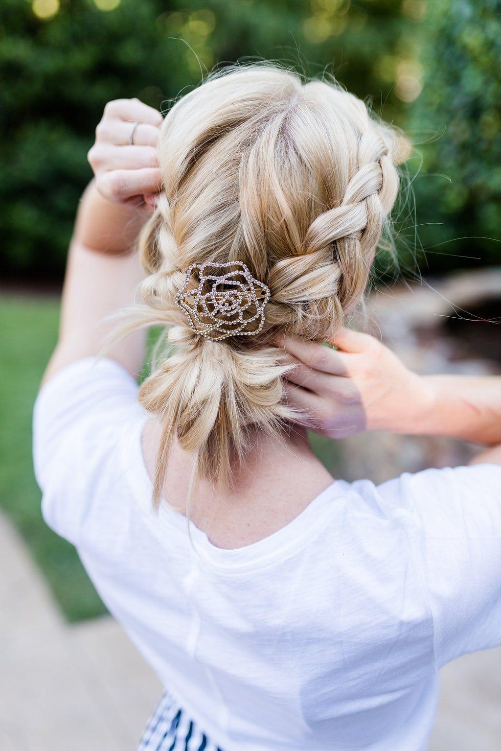 easy braid updo | Braided hairstyles updo, Braided updo ...