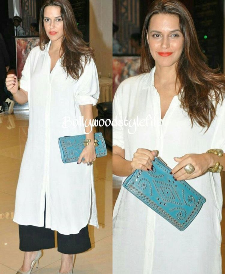 48a20a67e55a5 Neha Dhupia # travel diary # casual look # | Indianised casual ...